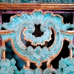 Pormenor de talha do órgão da igreja do mosteiro de Refojos de Basto